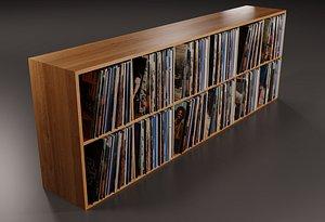 3D vinyl storage pbr model