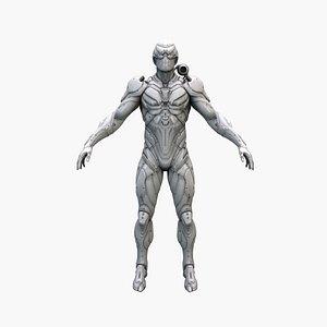 3D cyborg robot model