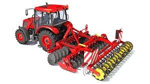 tractor compact disc harrow 3D