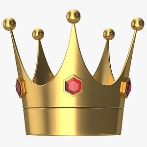 3D model Cartoon King Crown