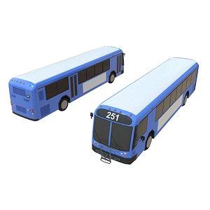3D bus city model
