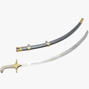 3D model Islamic Sword