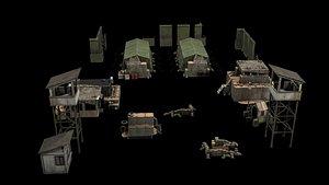 3D camp tent model
