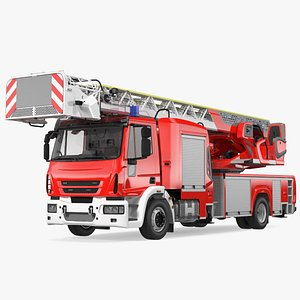 3D Firefighting Truck with Ladder