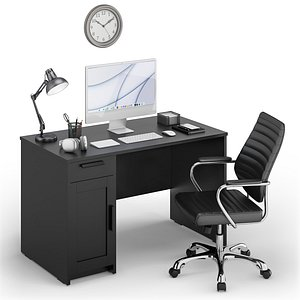 Workplace iMac Silver 3D model