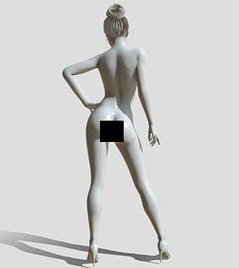 nude figure printable 3D model