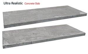 3D Ultra realistic Concrete slab