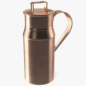vintage copper milk model