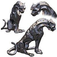 Design Toscano KY2408 Rampant Tranquility Jungle Jaguar Panther Statue