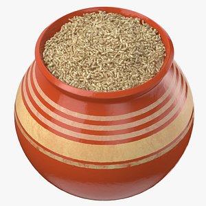 ceramic pot brown rice model