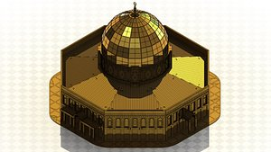 3D model Dome of the Rock Mosque -Laser cut Model