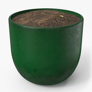 pot green 3D model