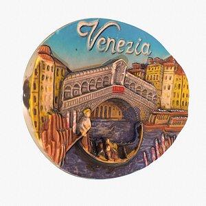 Venezia 01 Venice Italy magnet souvenir fridge low poly 3D model