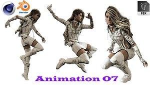 3D model stylized girl