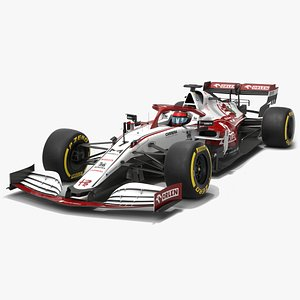 Alfa Romeo Racing F1 2021 C41 Formula 1 Race car 3D