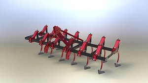 3D model agricultural tool field