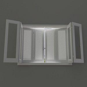 3D shesh wood window model