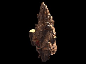 3D landscape nature rock model
