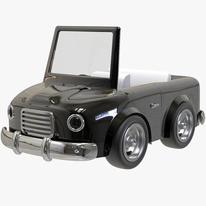 3D Convertible Cartoon Car model