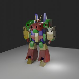 3D Transformers Style Robot for Blender 2.92