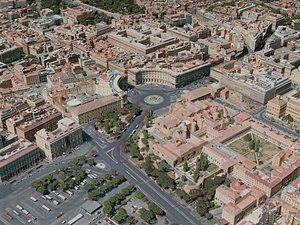 3D rome city