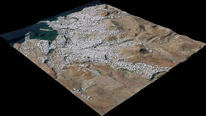 3D model Praia - Cabo Verde