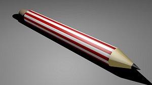 3D model lead pencil