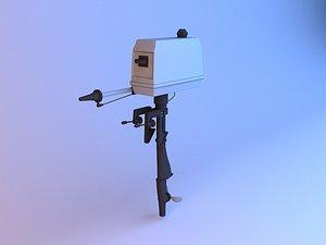 Boat Engine Motor 3D model
