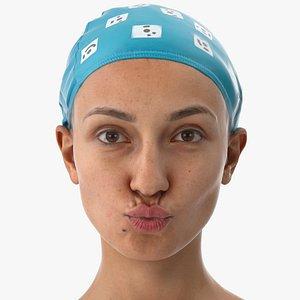 Joy Human Head Lip Pucker AU18 Clean Scan 3D