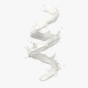Milk Splash 3D model