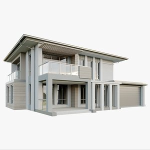 Modern countryside cottage 3D model