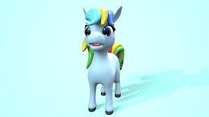 3D model pony cartoon