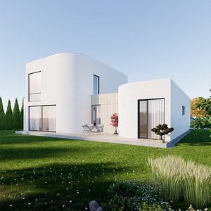 3D House 8 - Created with fully parametric Revit Families
