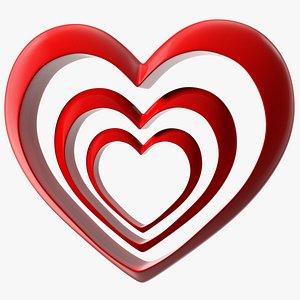 3D Growing Heart Emoji model