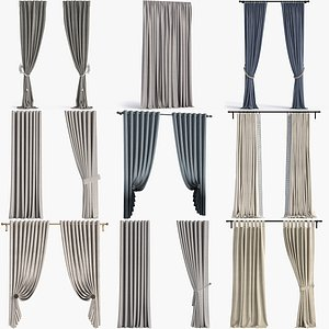 3D model Collection of Curtains