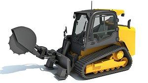 3D skid steer loader stump