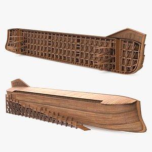 3D Noah Ark Cross Section Clear