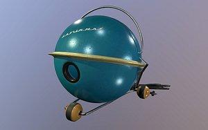 3D model soviet vacuum cleaner saturnas