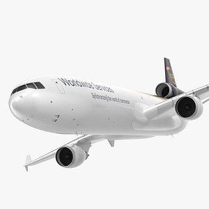 3D McDonnell Douglas MD11 Tri Jet Airliner UPS Rigged model