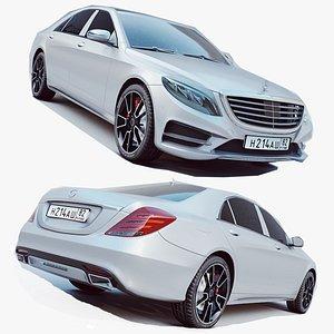 3D S Class AMG 2014 model