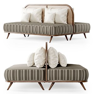 sofa double two-seater 3D model