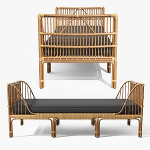 Sol Dolphin Gray Daybed 3D model