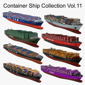 3D Container Ship Collection Vol.11