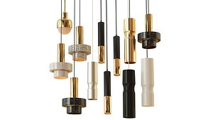 3D set chandelier model
