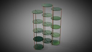 3D Long Playing etagere 3 columns by Eponimo