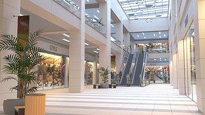 shopping mall interior 3D