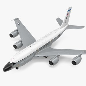 3D Boeing RC-135W Rivet Joint Rigged model