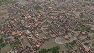 3D Ancient Town model