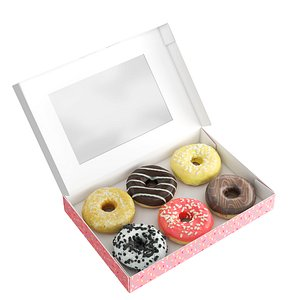 Donuts in Box 3D