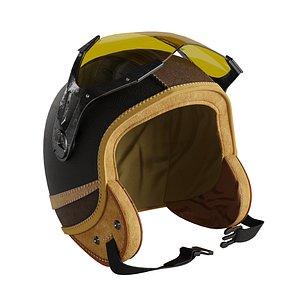 3D moto helmet leater